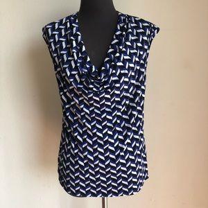 Ann Taylor sz M geo print blouse